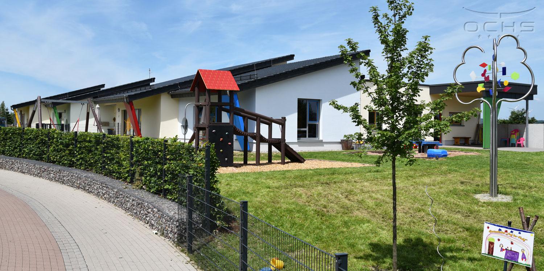 Kita in Morbach in Brettsperrholzbauweise – Außenbereich