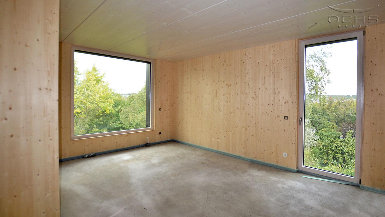 Wohnhaus in Holzbauweise in Mamer - Schlafzimmer