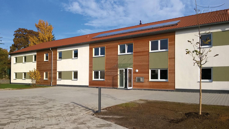 Asylbewerberunterkunft in Holzbauweise