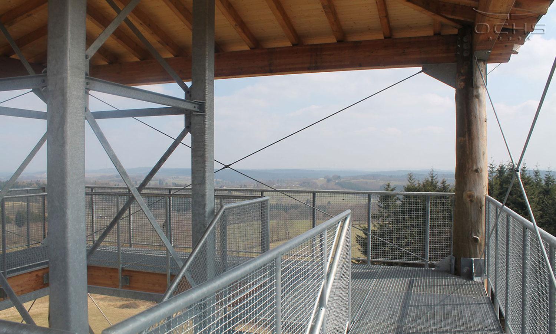 Aussichtsturm Hellenthal-Udenbreth - Aussichtsplattform