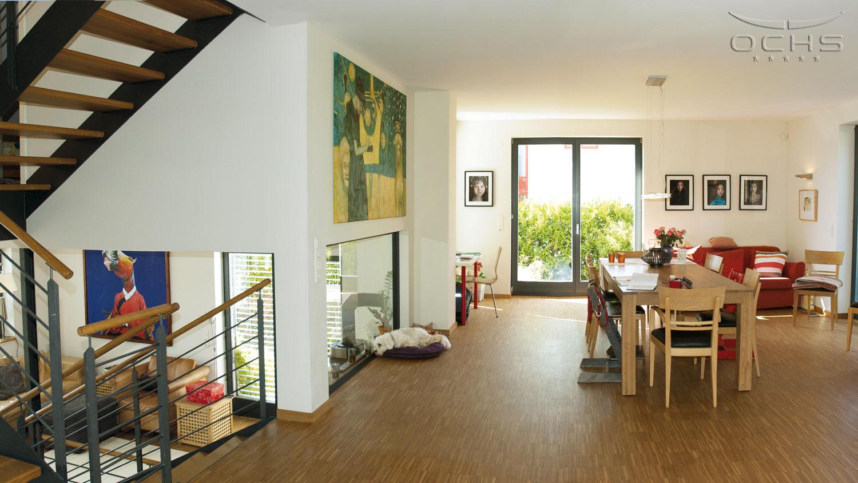 Wohnhaus in Holzbauweise in Schouweiler - Essbereich