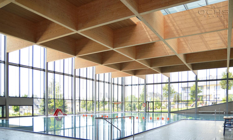 Schwimmbad Centre des Sports Belair - Holzkonstruktion