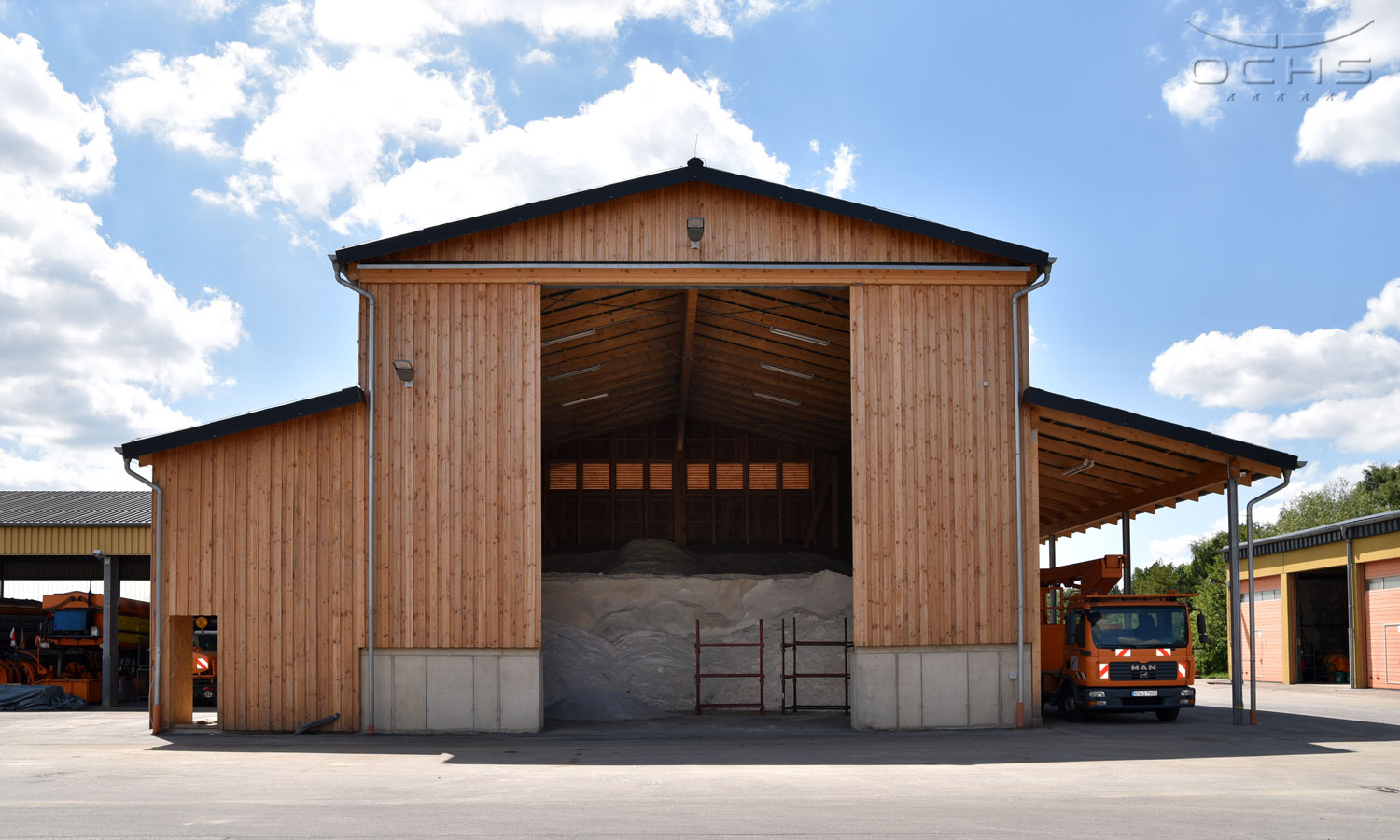 Salt storage depot in Simmern
