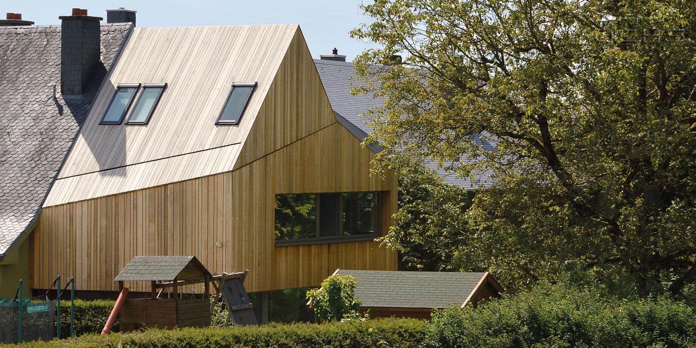 Anbau in Sandweiler komplett in Holz