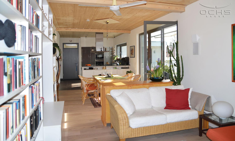 Wohnzimmer Balkon Mehrgechossiger Holzbau Oberursel