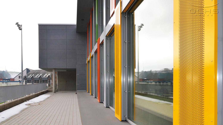 Schule in Harlange - Fassade