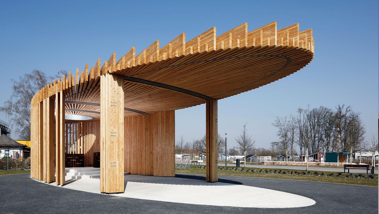 """Kirchenpavillon """"Himmelgrün"""" auf der Landesgartenschau 2015 in Landau"""