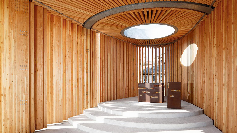 Kirchenpavillon aus Douglasie, Landesgartenschau 2015 in Landau