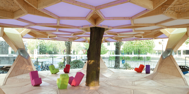 "Pavillon ""treehugger"" der Handwerkskammer Koblenz auf der BuGa 2011"