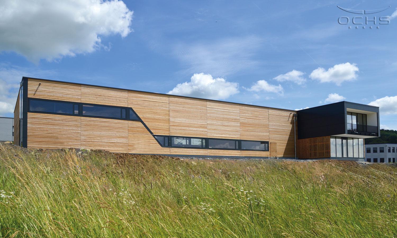 Produktionshalle - Modulares Holzbausystem in Passivhaus-Qualität