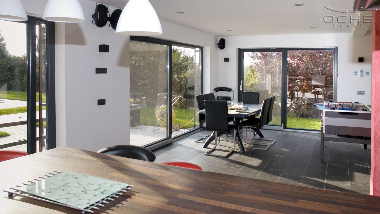 Wohnhaus in Holzbauweise in Noertzange - Wohnbereich