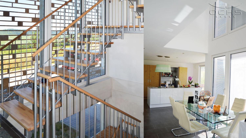 Wohnhaus Holzbauweise in Wincheringen - Treppenhaus, Essbereich