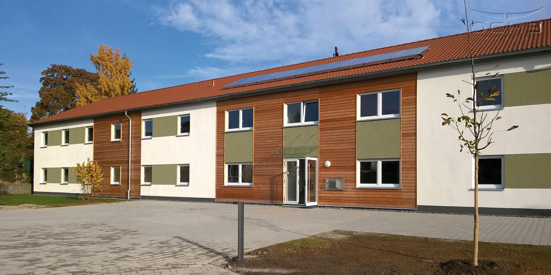 Holzrahmenbau Asylbewerberunterkunft