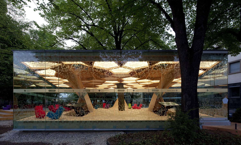 """Pavillon """"treehugger"""" auf der Bundesgartenschau Koblenz"""