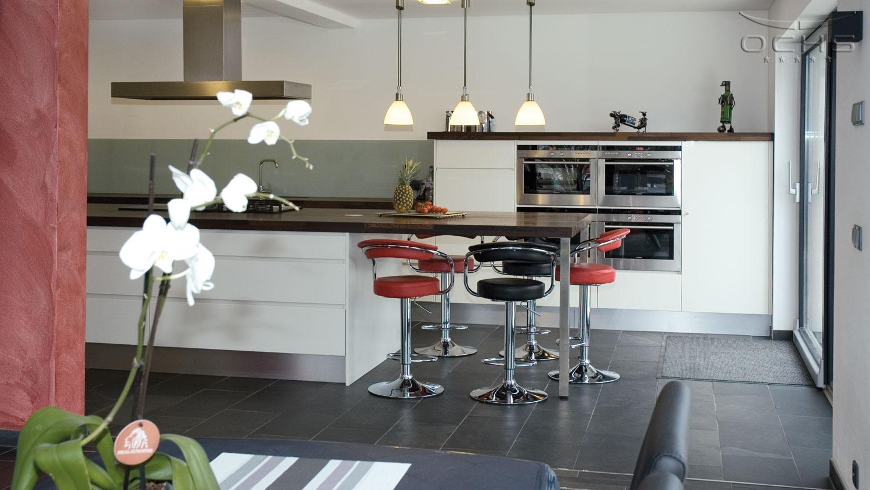 Wohnhaus in Holzbauweise in Noertzange - Küche