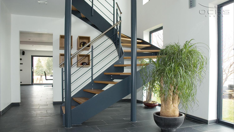 Wohnhaus in Holzbauweise in Noertzange - Eingangsbereich