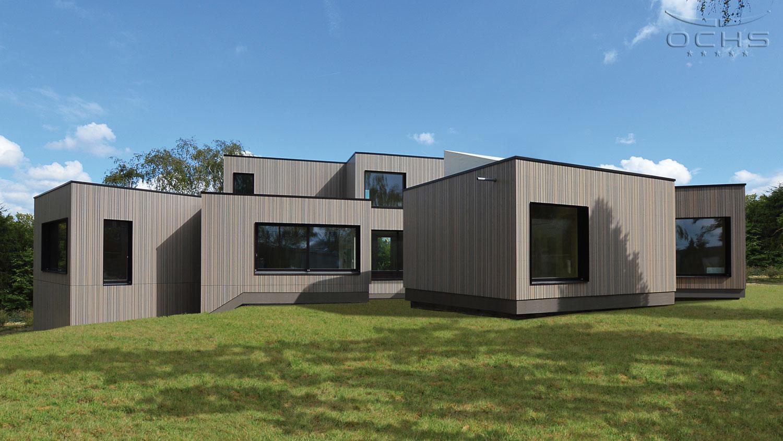Wohnhäuser. Moderne Architektur   Wohnhaus In Holzbauweise In Mamer