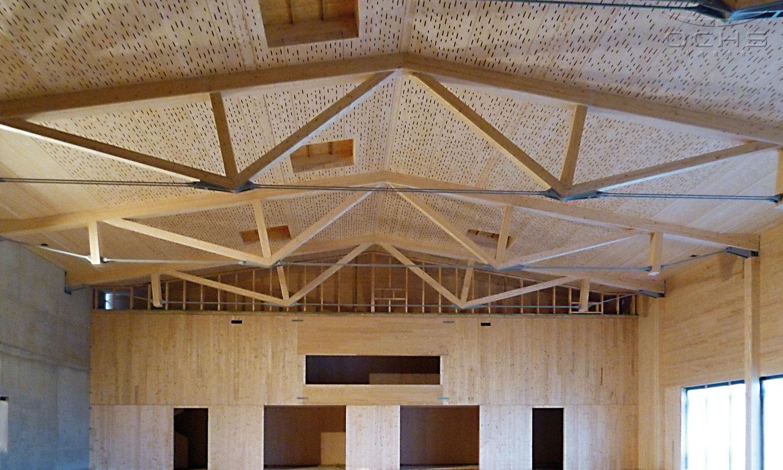 Sporthalle in L-Frisange Innenansicht