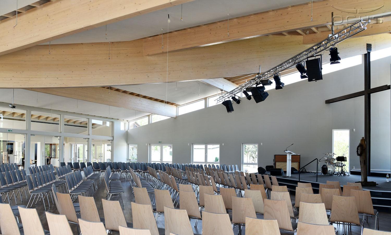 Freie evangelische Gemeinde Simmern Innenansicht