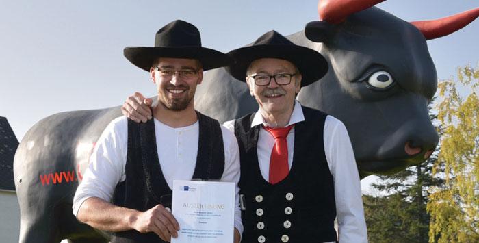 Benedikt Müller und Geschäftsführer Heinrich Werner Ochs